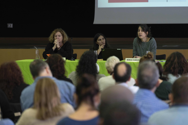 'Activismos desde la sociedad civil' Maite Echarte (Prodein) y Mireia Cebrián (L'Associació), del Programa Doméstico de Oxfam Intermón ©Guillermo Sanz para OXFAM Intermon