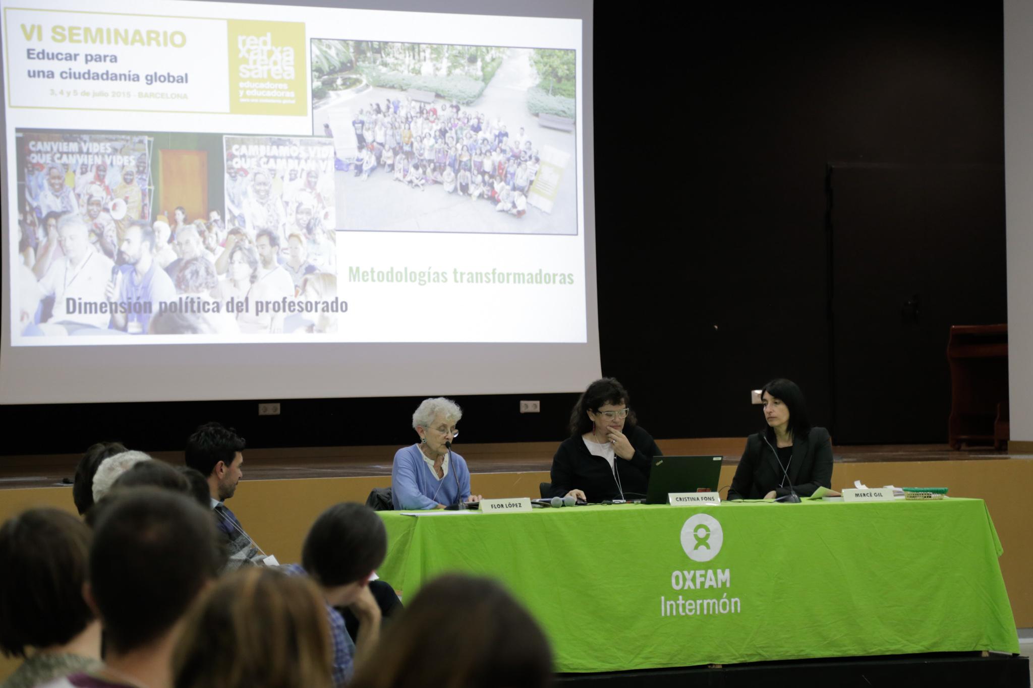 """Presentación """"Metodologías para la Educación para la Ciudadanía Global"""" ©Pamela Ravina para OXFAM Intermon"""
